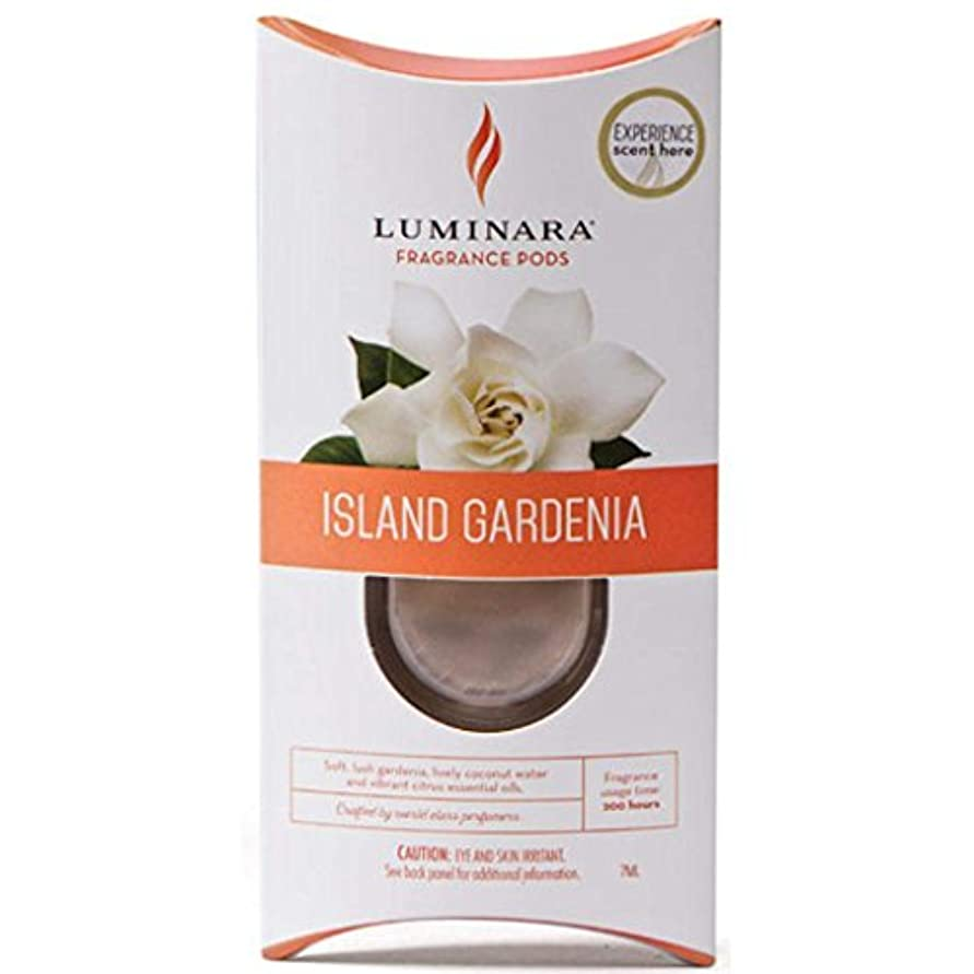 夕方キャンパスモス1つLuminara Fragranceカートリッジ島Gardenia | for Luminara Fragrance Diffusing Flameless Candleピラー