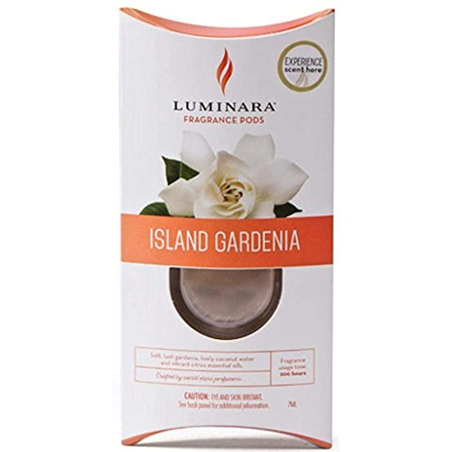 公事務所コットン1つLuminara Fragranceカートリッジ島Gardenia | for Luminara Fragrance Diffusing Flameless Candleピラー