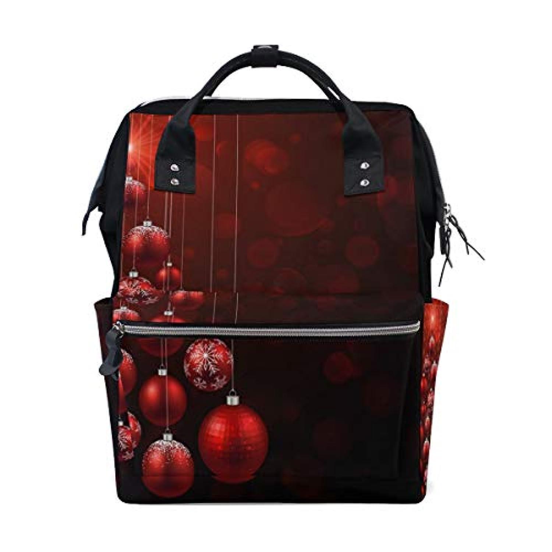 ママバッグ マザーズバッグ リュックサック ハンドバッグ 旅行用 クリスマス 紅のベル柄 ファション
