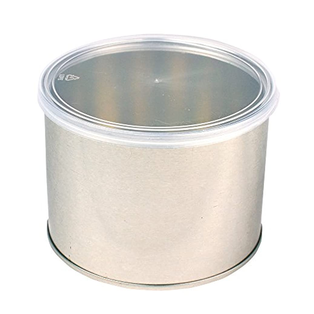 ノーブル何か留まるワックス脱毛用スチール缶 ハード?ソフト両用 キャップ付 1個(032-1) ブラジリアンワックス