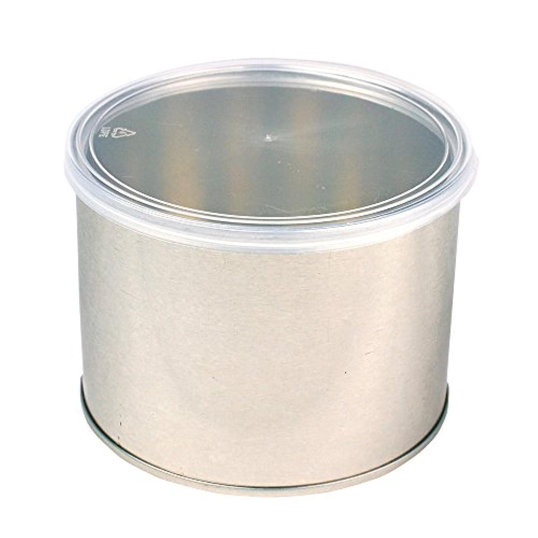 準備した鈍い修士号ワックス脱毛用スチール缶 ハード?ソフト両用 キャップ付 1個(032-1) ブラジリアンワックス
