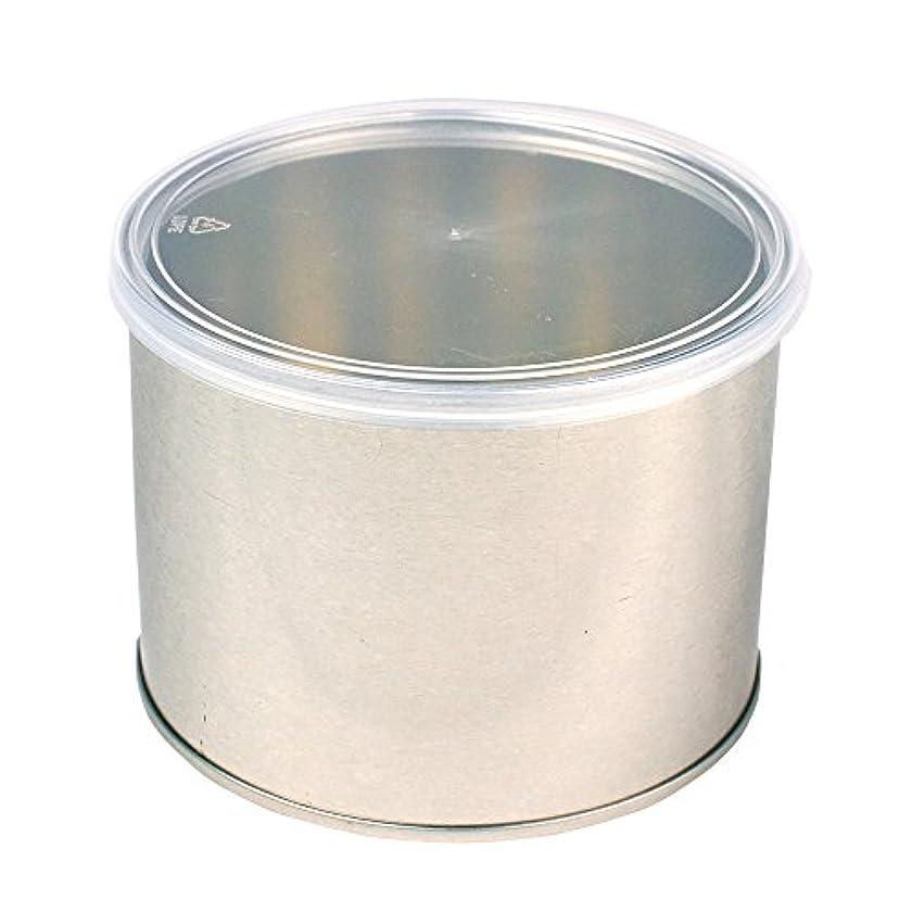 企業単調なチェスをするワックス脱毛用スチール缶 ハード?ソフト両用 キャップ付 1個(032-1) ブラジリアンワックス