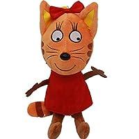 新 20/25 センチメートルハッピー猫漫画ロシア 3 子猫ぬいぐるみぬいぐるみソフト動物猫おもちゃの人形子供キーホルダークリスマスギフト (RED, 25cm)