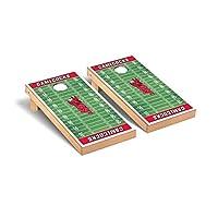 ジャクソンビル状態JSU軍鶏デスクトップCornhole Game Setフットボールフィールドバージョン