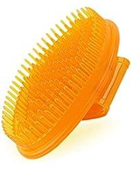 CQ 健康経絡ブラシ脚ボディホームアクティブ腱胸部薄い擦りマッサージボディボディ本物のシャンプーブラシ (Color : Yellow)
