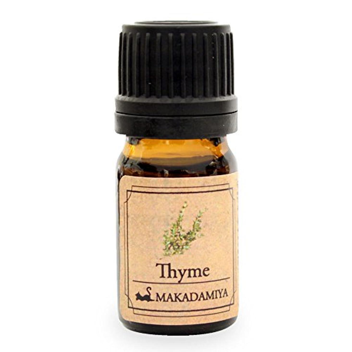 無能物理的に方法論タイム5ml 天然100%植物性 エッセンシャルオイル(精油) アロマオイル aroma Thyme