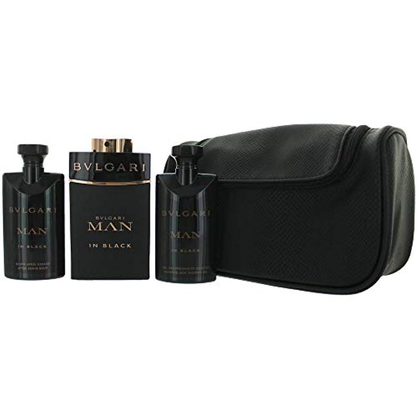 そうでなければ万一に備えて明るいBvlgari Man In Black Eau De Parfum 100Ml Vaporizador + Gel De Baño 75Ml + After Shave Balm 75Ml