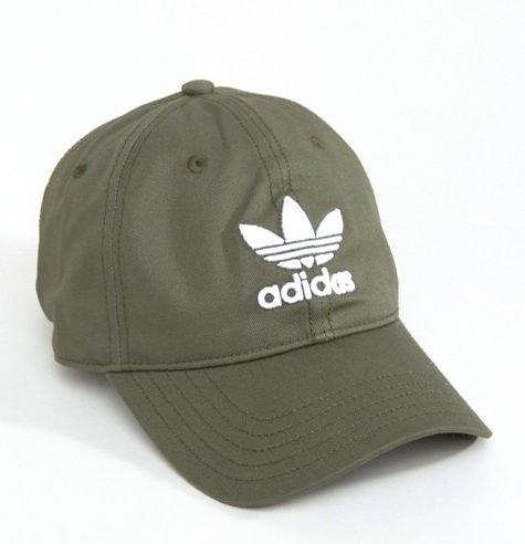385ec8e5811785 アディダス]Adidas Originals オリジナルス トレフォイル ロゴ キャップ 帽子 メンズ レディース 男女兼用[並行輸入品]  (Khaki × White)