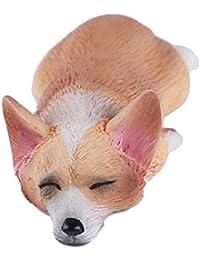 最初はコーギーの犬のモデルリアルな手描きのおもちゃの置物モデルアクションフィギュアティーンエイジャーのためのおもちゃの装飾、黄金のお金