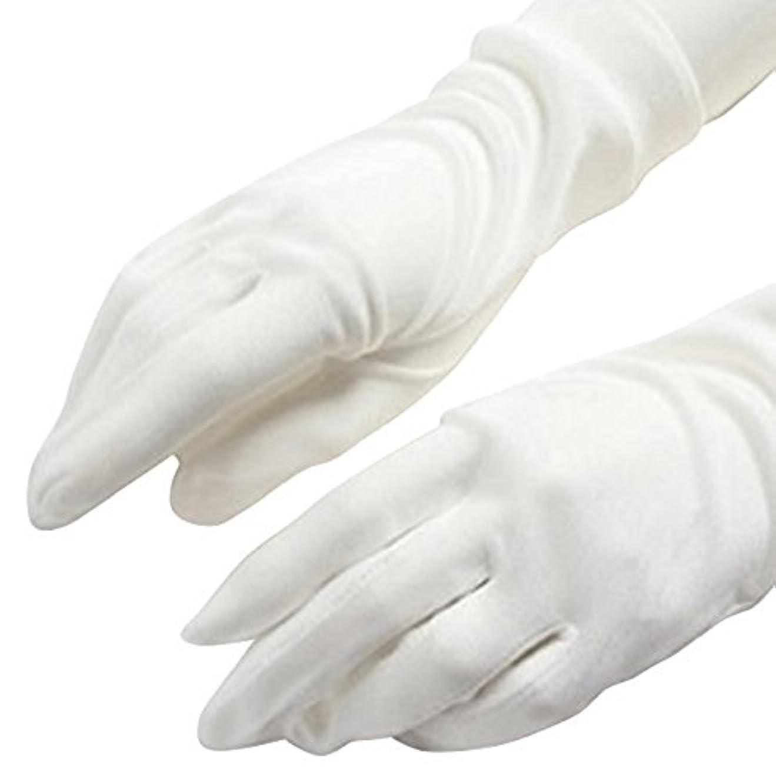 通信網クレア魅了するCREPUSCOLO 手荒れ対策! シルク手袋 おやすみ 手袋 保湿ケア UVカット ハンドケア シルク100% 全7色 (ホワイト)