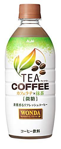ワンダ TEACOFFEE カフェラテX抹茶 微糖 525X24