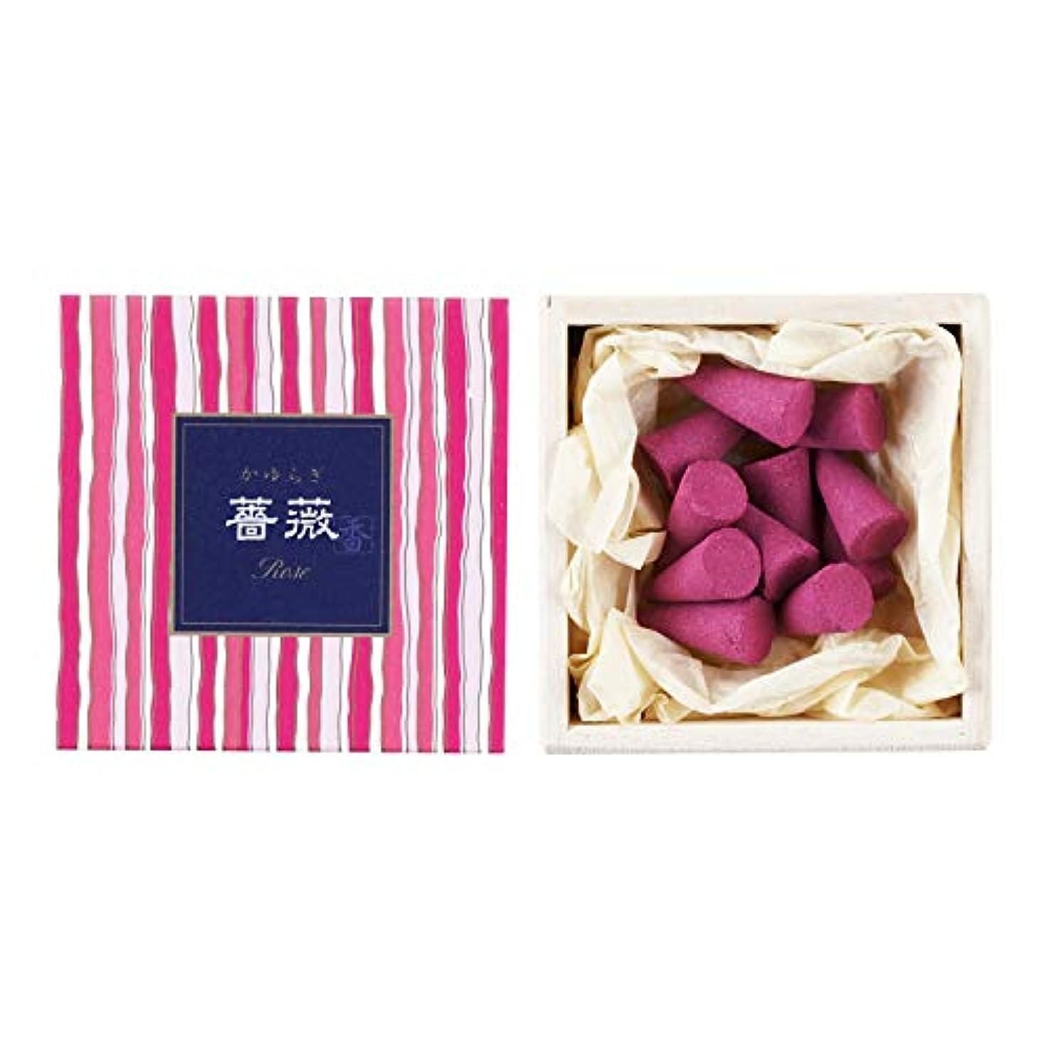 ベテランライトニング適応するかゆらぎ 薔薇(ばら) コーン12個入 香立付