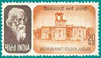 Vishwa Bharati Golden Jubilee Personality Nobel Laureate Poet Literature Music National Anthem Painting Theatre Institution Education University Golden Jubilee Building 20 P