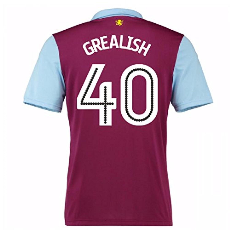 2016-17 Aston Villa Home Shirt (Grealish 40)