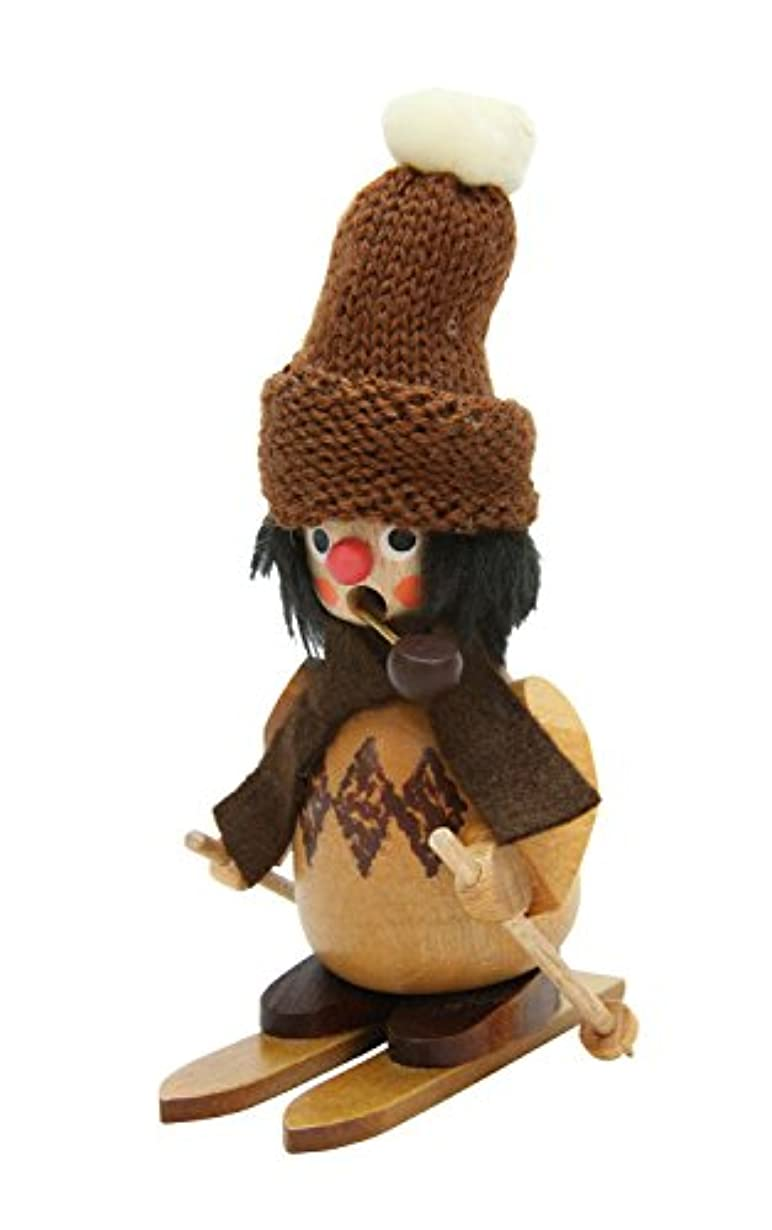 巧みなシロナガスクジラ告白するAlexander Taron 35-791 Christian Ulbricht Incense Burner - Skier with Fuzzy Hat in a Natural Wood Finish