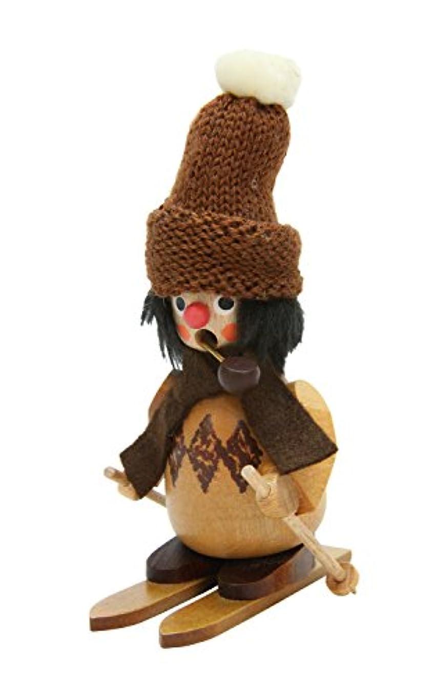 布保険をかけるデザートAlexander Taron 35-791 Christian Ulbricht Incense Burner - Skier with Fuzzy Hat in a Natural Wood Finish