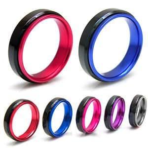 ステンレスリング ステンレス メンズ リング レディース ピンク ブラック アルミニウム sr0102 【ピンク-14号】