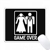 黒バックの花嫁と新郎の写真の上のゲーム PC Mouse Pad パソコン マウスパッド