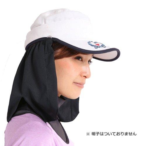 ネックシェード(帽子のたれ、フラップ)ゴルフ・ランニング・登山・釣りなどアウトドアの熱中症予防・日焼け防止に【紫外線対策グッズ 】 (ブラック)