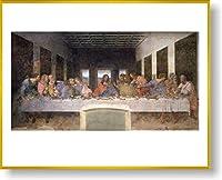 レオナルド・ダ・ヴィンチ 最後の晩餐 【ポスター+フレーム】約 61 x 81 cm ゴールド(ヘアライン)