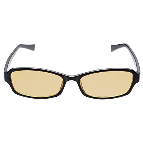 エレコム ブルーライトカットメガネ 日本製 超吸収レンズ ワイドスクエア 男女兼用 OG-YBLP-S01BK