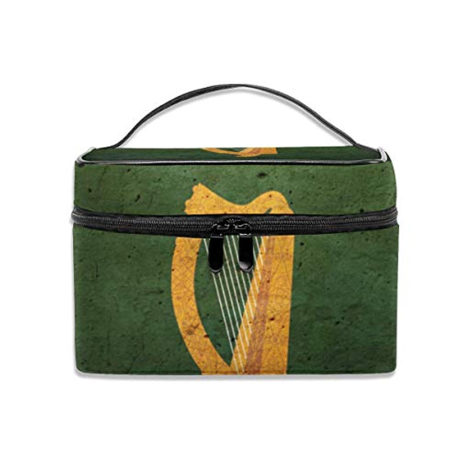 人物肘タイトル化粧ポーチアイルランド ハープ メイクポーチ コスメバッグ 収納 雑貨大容量 小物入れ 旅行用