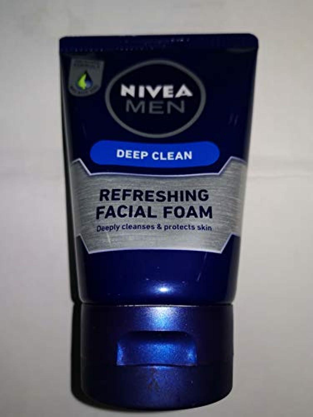 Nivea For Men 100グラムディープクレンジング洗顔料は、傷の健康を減らし、汚れや不純物を取り除く効果的に徹底的に肌を清潔にし、
