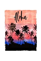 Aloha: Hawaiian Christmas Notebook With Lined College Ruled Paper For Taking Notes. Stylish Tropical Travel Journal Diary 6 x 9 Inch Soft Cover. For Home, Work Or School.