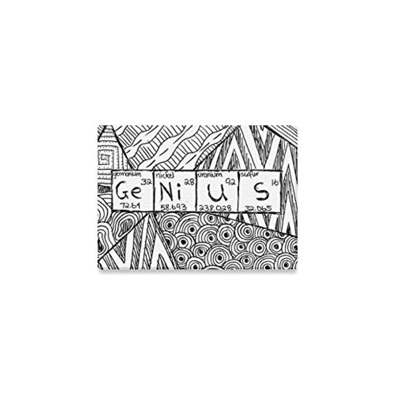 (ArtsAdd) キャンバス プリント アート ポスターフレーム エレガントスタイルインテリア Canvas Print 7x5 インチ Genius Black and White Design