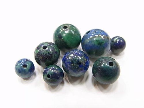 一粒販売 天然石ビーズ アズライトA ビーズサイズ 8mm 形 丸玉