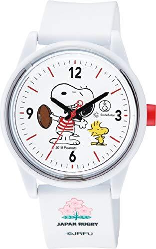242183e333 キューアンドキュー スマイルソーラー Q Q SmileSolar 腕時計 PEANUTS BRAVE BLOSSOMS ラグビー 日本代表  トリプルコラボレーション モデル 500本 限定 10気圧防水 ...