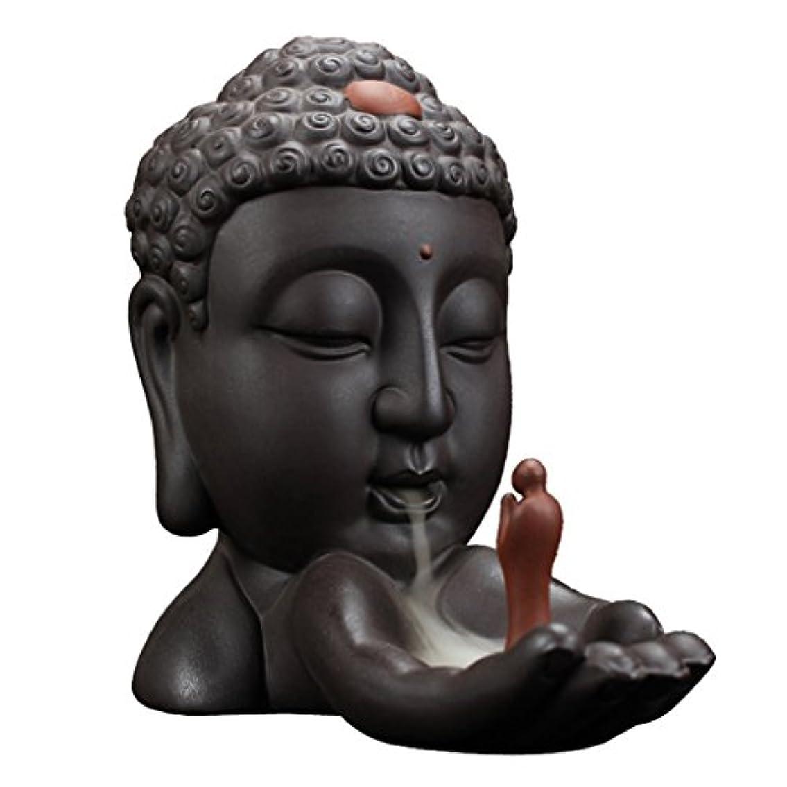 円周聴覚障害者灌漑仏教 香のバーナー セラミック スティック コーン ホルダー 逆流 バーナー 香炉