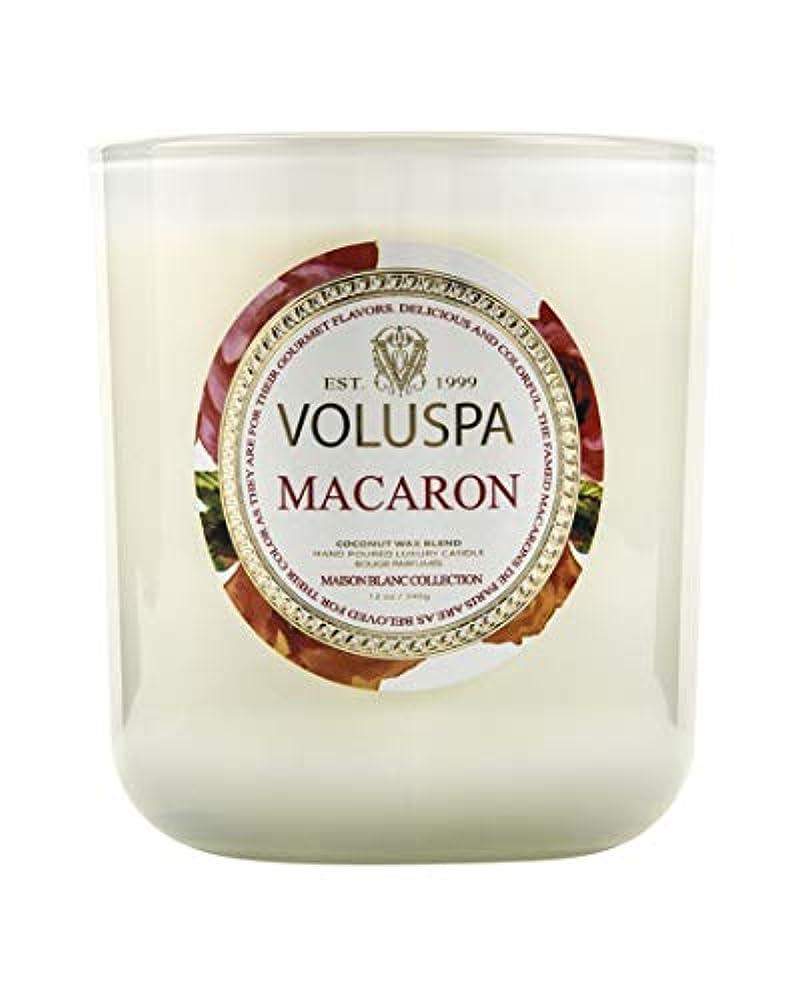 誰病的染料VOLUSPA メゾンホワイト BOXキャンドル マカロン