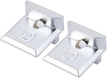 39.8mmx14.5mmx10.8mm Aluminum Alloy Casement Window Keeper Silver Tone 2pcs