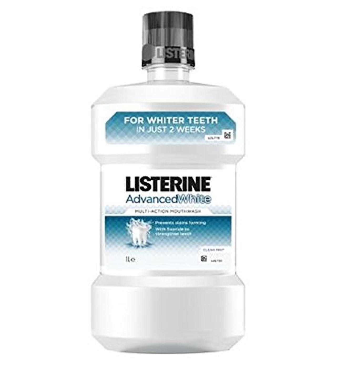 予測する台無しに困惑したリステリンは白いマウスウォッシュを進めた - 千ミリリットル (Listerine) (x2) - Listerine Advanced White Mouthwash - 1000ml (Pack of 2) [並行輸入品]