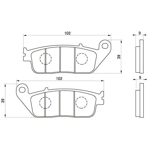 デイトナ(DAYTONA) ブレーキパッド 赤パッド フロント:シャドウス400/GSR250/ジェンマ/VTR250/CBR250R など 79803