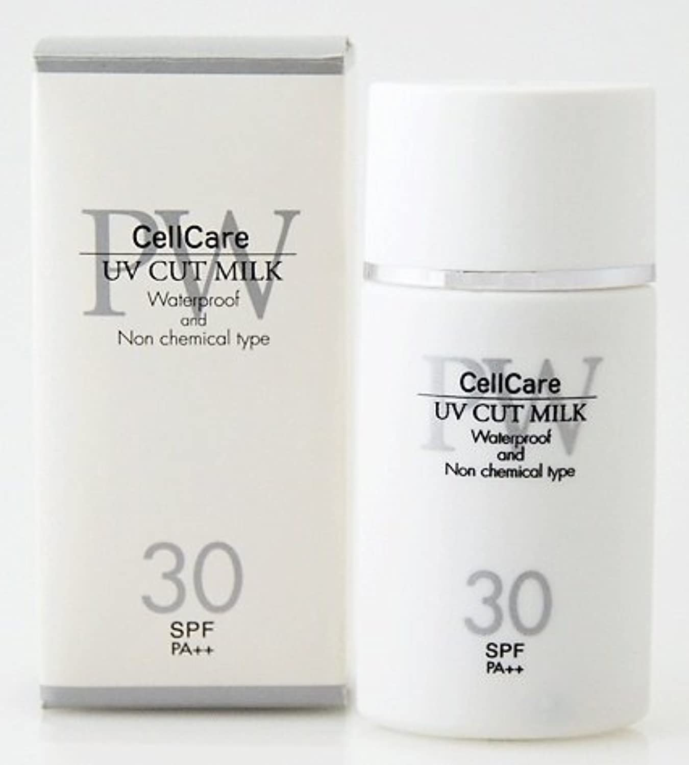 タフ電気技師切り離すセルケア ピュアホワイト UVカットミルク 30g(日焼け止め乳液) SPF30 PA++ 保湿