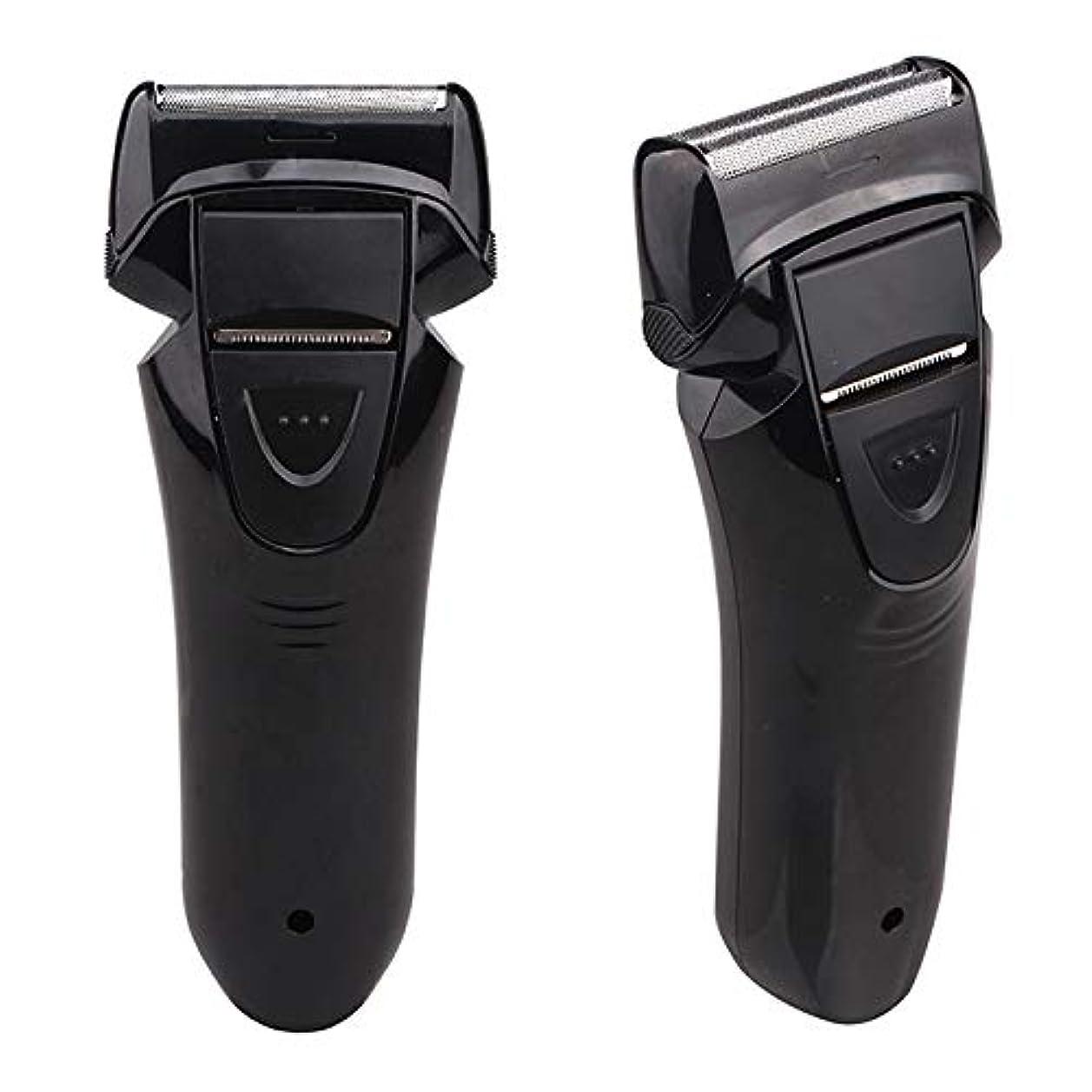 繰り返した争う人里離れたメンズシェーバー Vegetable(ベジタブル) アダプター&USB充電式2枚刃シェーバー GD-S206