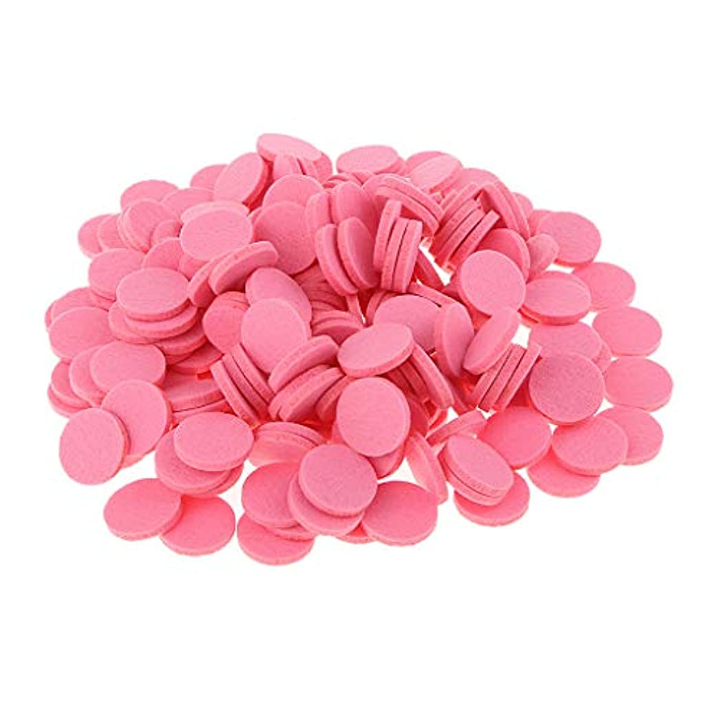アメリカ説得力のあるヒョウ約200個入り 詰め替えパッド 精油付き アロマディフューザー 交換用 オイルパッド 全11色 - ピンク