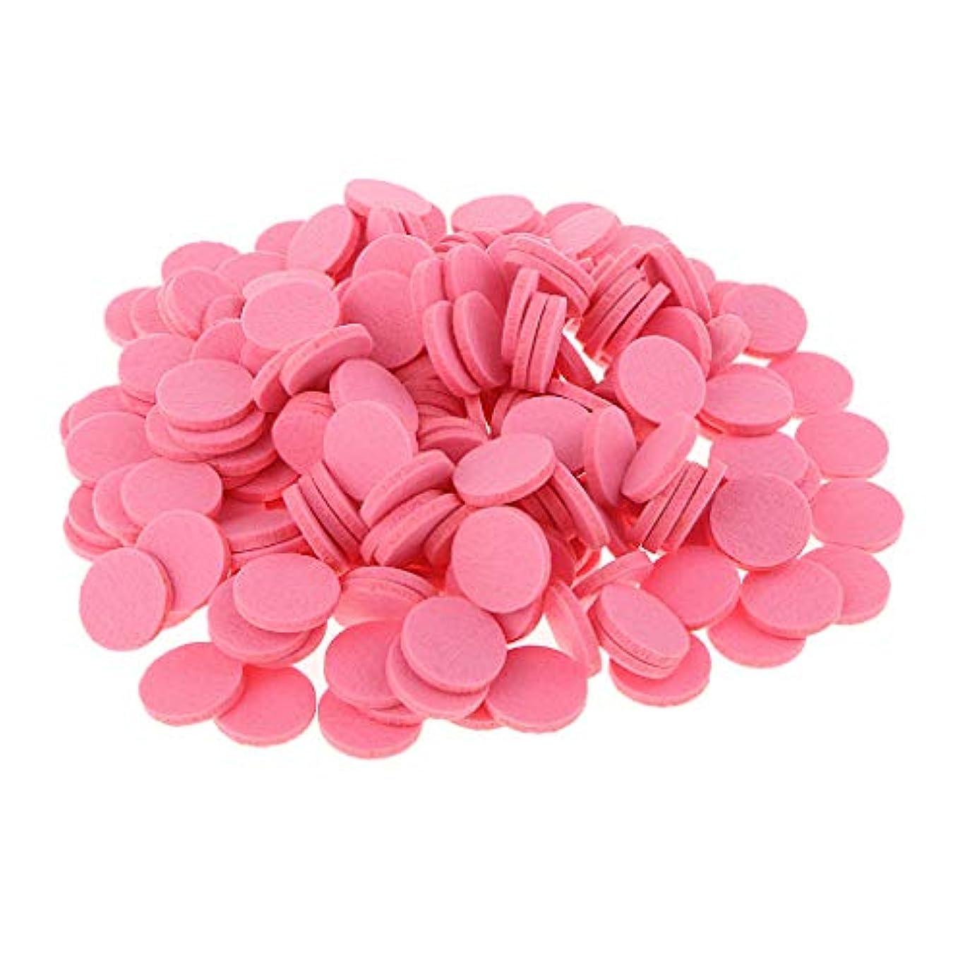 耐えられない小競り合い普遍的な約200個入り 詰め替えパッド 精油付き アロマディフューザー 交換用 オイルパッド 全11色 - ピンク