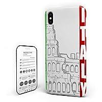 iPhone 7/ iPhone 8 カバー イタリア ロマ 建物 ヨーロッパ ケース 全面保護 指紋防止 耐衝撃 すり傷防止 超耐久 スマホケース 防塵 薄型 アイフォン ケース カバー 携帯ケース 携帯カバー