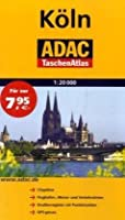 ADAC TaschenAtlas Koeln 1:20 000: Cityplaene, Flughafen-, Messe- und Verkehrslinien, Strassenregister mit Postleitzahlen, GPS-genau