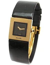 bf2d67093533 シャネル CHANEL マトラッセ H0109 レディース 腕時計 K18YG イエローゴールド ブラック 文字盤 クォーツ ウォッチ 【中古