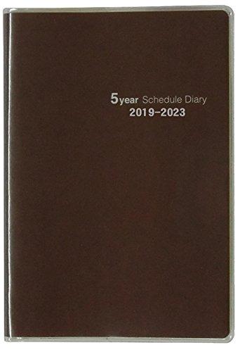 不二精機 手帳 2019年 B7 マンスリー 5年手帳 スタンダード クラシック 490447 (2018年 11月始まり)