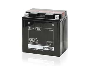 SUPER NATTO / STX30L-BS (YIX30L互換) ハーレー用 バッテリー 密閉型 MF