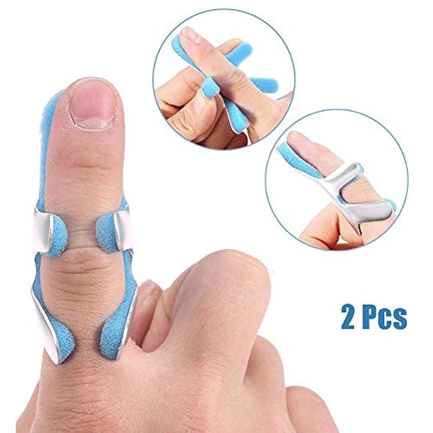 誕生バッチハーネスフィンガースプリント、腱リリース用のパッド付きアルミニウム固定サポートパッド、痛み緩和、2個、L