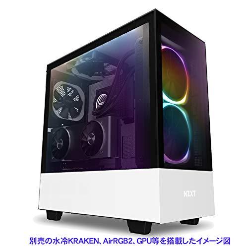 『NZXT H510 Elite 前面+側面ガラスパネル RGB LED発光&ファン制御機能搭載 [ White & Black ] CA-H510E-W1』の8枚目の画像