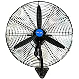 Pedestal Fan/High Power 3 Speeds Floor Standing Wall-Mounted Fans|Steady Stand Fan High Velocity Oscillating Fan Simple Operation