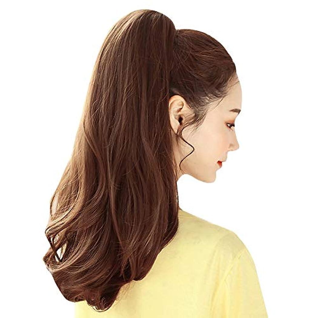 SRY-Wigファッション ポニーテールファッションウィッグ人毛エクステンションのリアルな新しいクリップポニーテールの周りのストレートポニーテールラップ