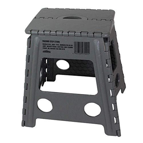 ワットノット(Whatnot) 折りたたみチェア グレー フォールディング ステップ スツール アウトドア 椅子 踏み台 脚立 洗車 折り畳みチェア FSS-M-SG グレー
